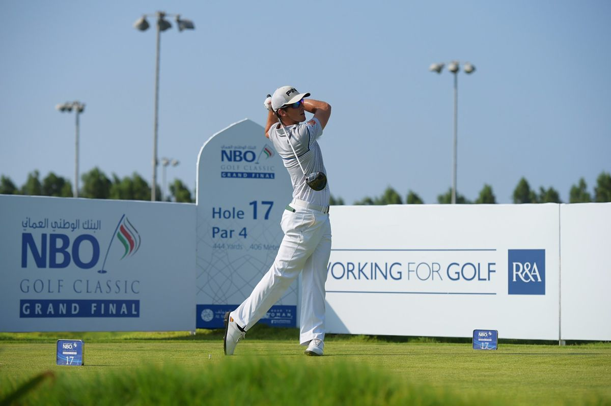 Scott Fernández esta semana en el Al Mouj Golf. © Twitter Challenge Tour