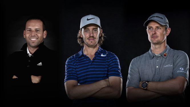 Tommy Fleetwood, Justin Rose and Sergio García.