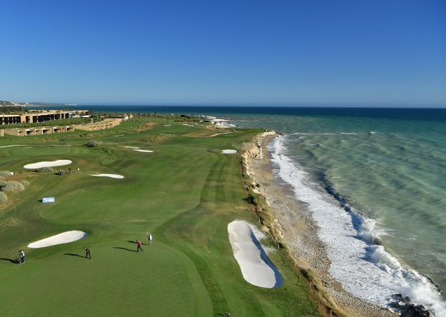 A general view of the 16th hole during the third round of The Rocco Forte Open at The Verdura Golf and Spa Resort on May 20, 2017 in Sciacca, Italy. (Photo by Stuart Franklin/Getty Images)