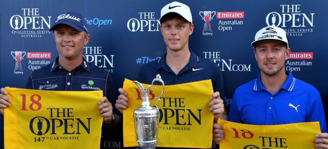 Matt Jones, Cameron Davis y Jonas Blixt ya consiguieron su billete al The Open Championship en el Open de Australia. © The Open