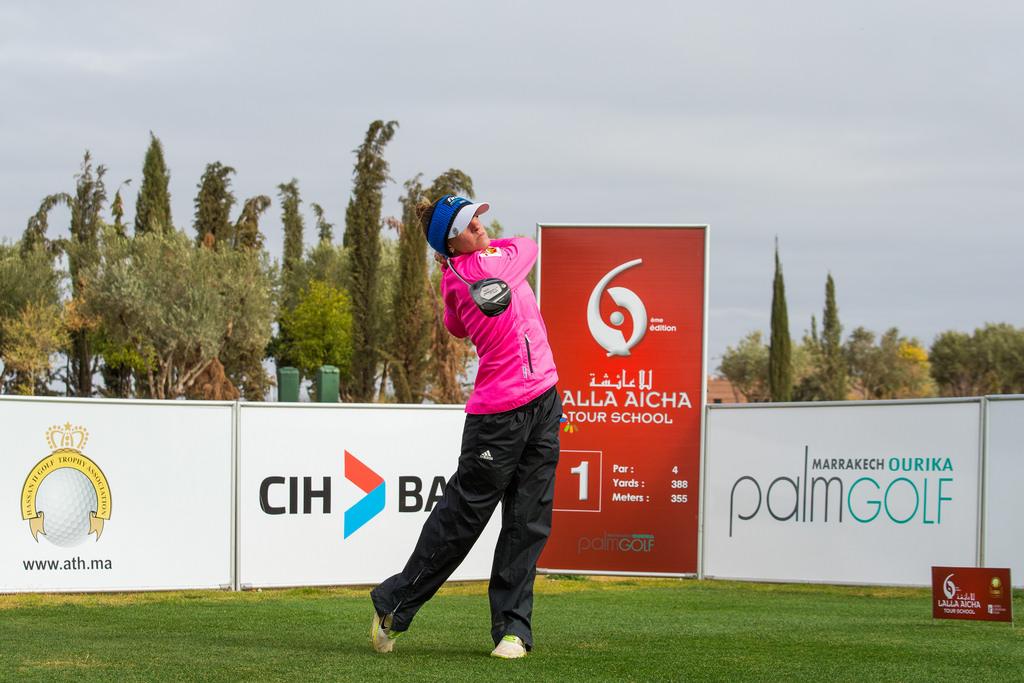 Elia Folch es la mejor español en la Escuela después de la tercera ronda. © Tristan Jones