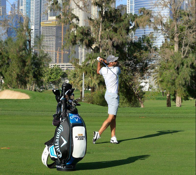 Álvaro Quirós en el Emirates Golf Club. © Golffile | Phil Inglis
