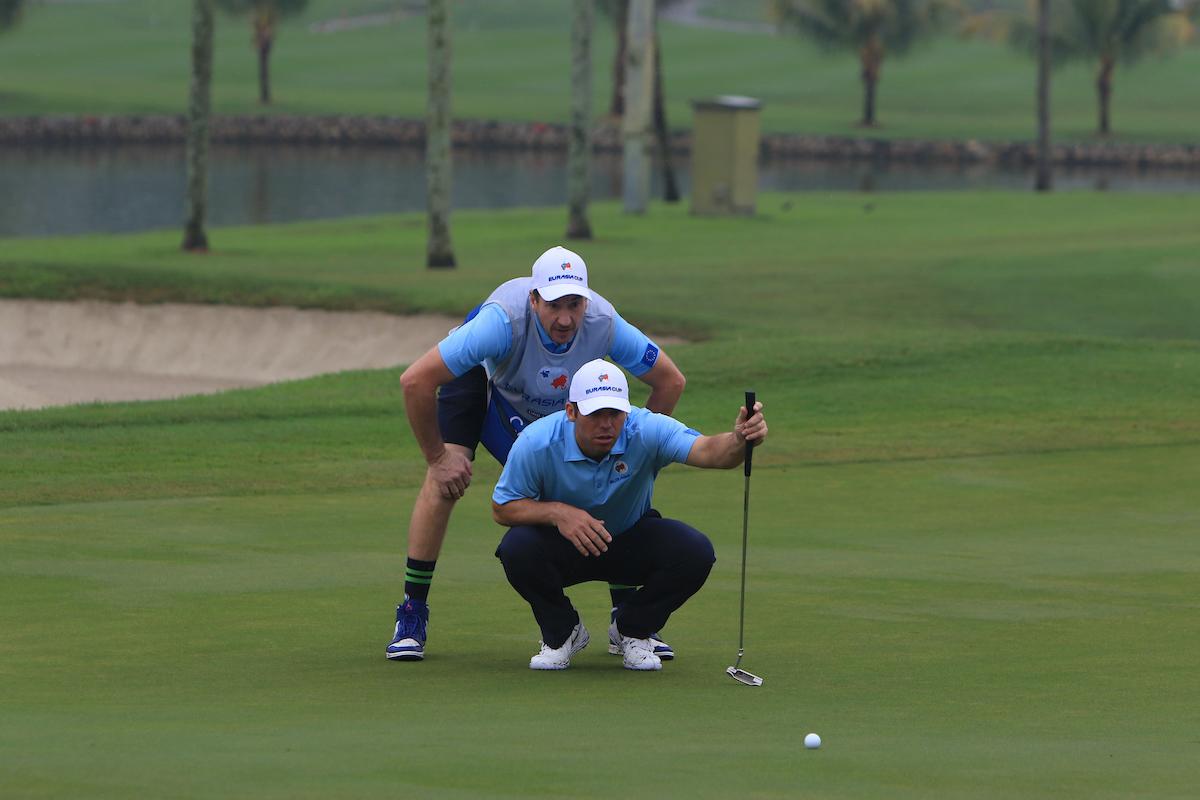 Paul Casey este sábado en el hoyo 3 del Glenmarie Golf. © Golffile | Thos Caffrey