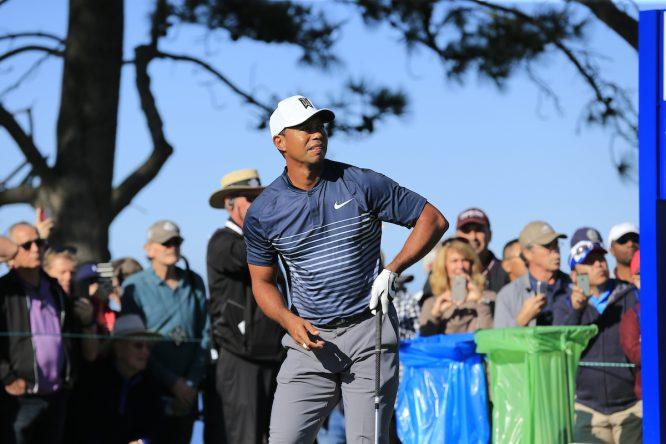Tiger Woods, ayer en la segunda ronda del Farmers Insurance Open. © Eoin Clarke | Golffile