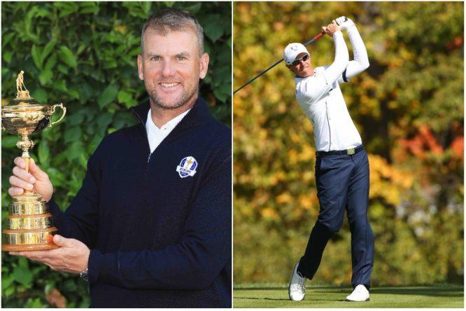 Ryder Cup stars Robert Karlsson and Nicolas Colsaerts.