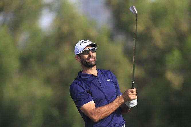 Álvaro Quirós en el Omega Dubai Desert Classic. © Golffile | Thos Caffrey