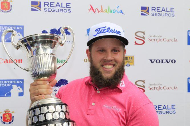Andrew Johnston, último ganador del Open de España en 2016. © Golffile   Eoin Clarke