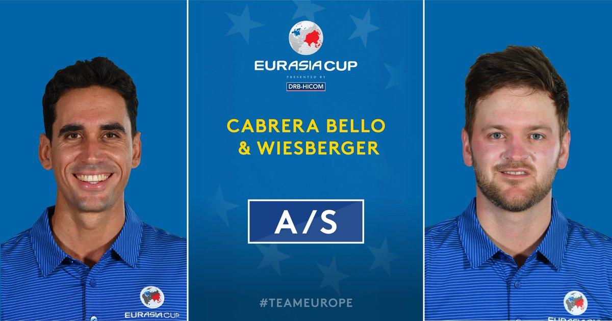 Rafa Cabrera Bello y Bernd Wiesberger. © Twitter European Tour