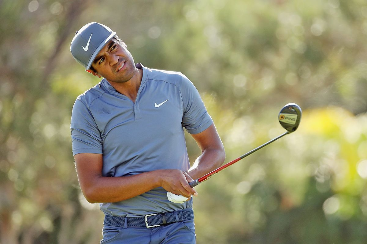 Tony Finau, líder tras la primera ronda en Torrey Pines. © Twitter PGA Tour