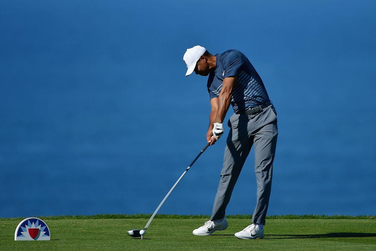 Tiger Woods durante la segunda ronda en Torrey Pines. © Twitter PGA Tour
