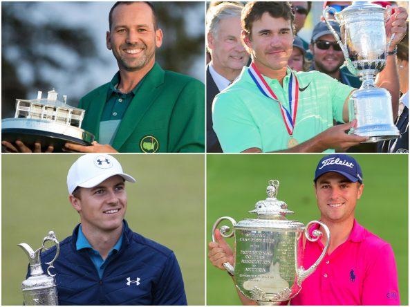 Ganadores de los majors de 2017 © Golffile