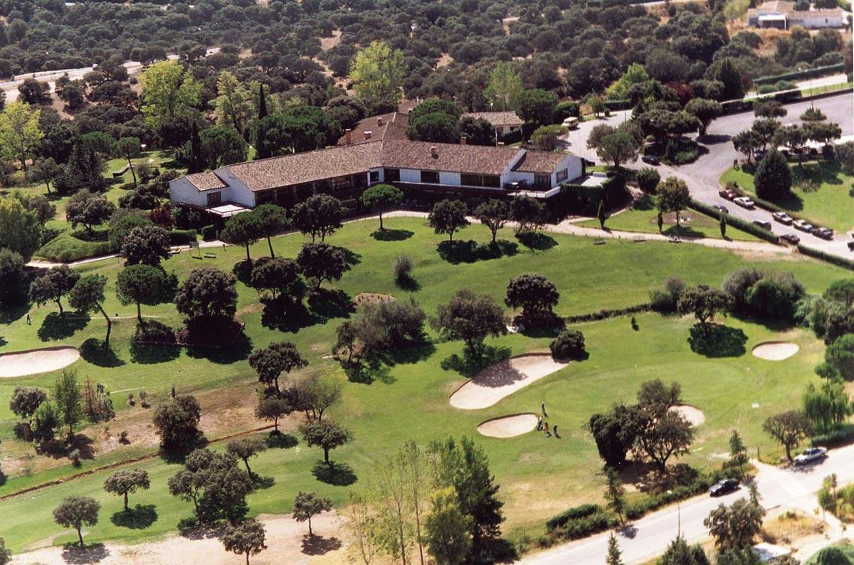 Panorámica del club de golf del RACE, en Madrid.