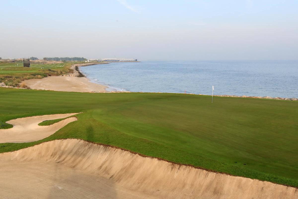 Vista del hoyo 12 del Al Mouj Golf de Muscat. © Golffile | Phil Inglis