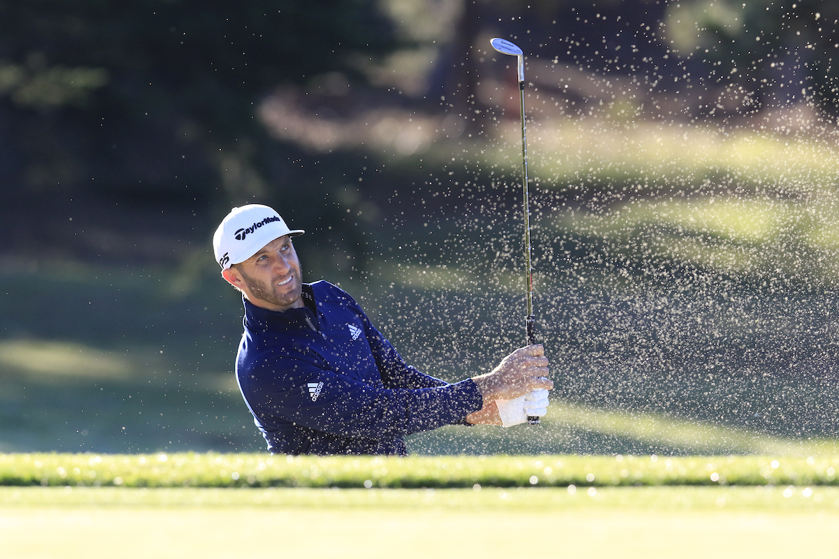 Dustin Johnson durante la primera ronda del AT&T Pebble Beach Pro-Am. © Golffile | Eoin Clarke