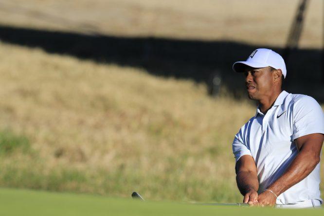 Tiger Woods, ayer durante la segunda ronda en el Genesis Open. © Eoin Clarke | Golffile