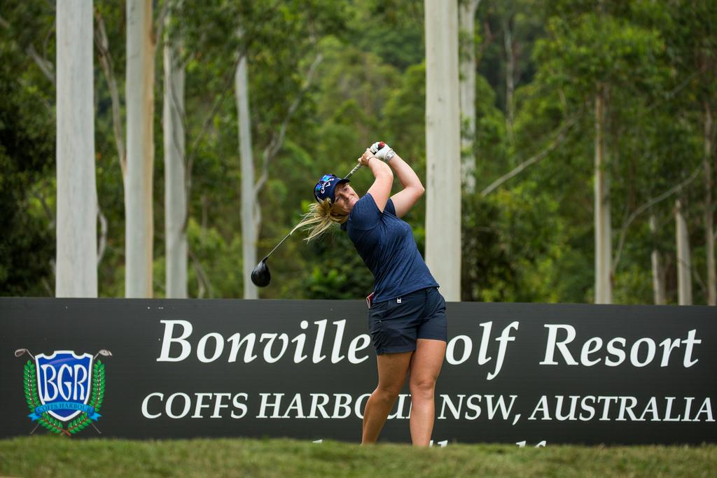 Holly Clyburn durante la segunda ronda en Bonville. © Tristan Jones