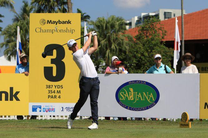 Chris Paisley durante la primera jornada del Maybank Championship. © Golffile | Thos Caffrey