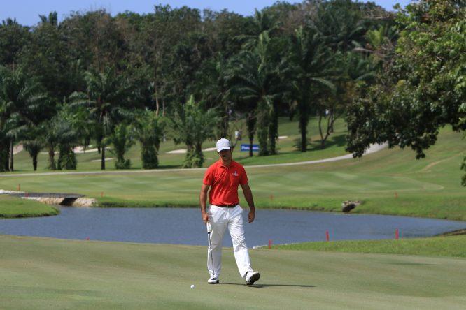 Jorge Campillo en el hoyo 6 del Saujana Golf Club. © Golffile | Thos Caffrey