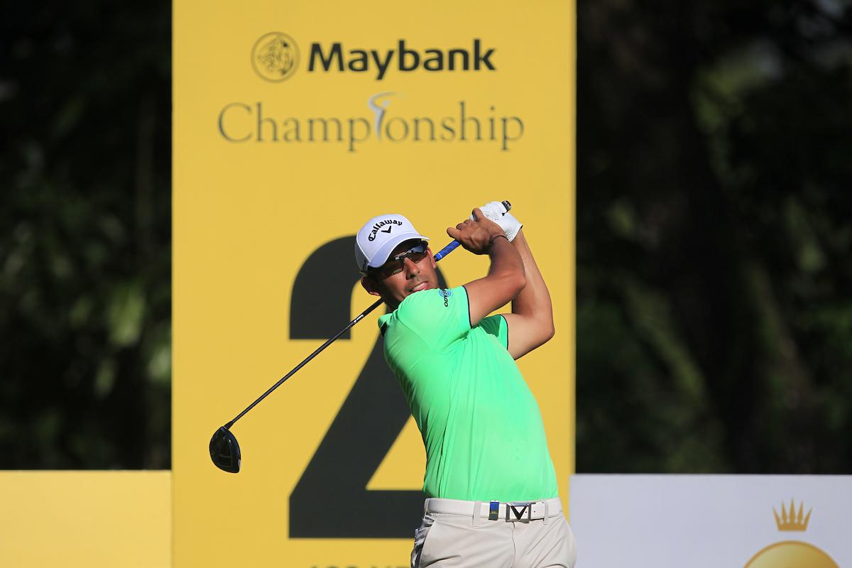 Pablo Larrazábal en la primera ronda del Maybank Championship. © Golffile | Thos Caffrey