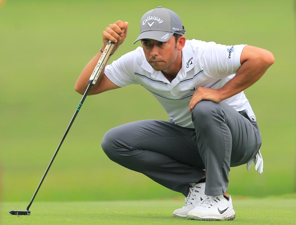 Pablo Larrazábal en el hoyo 10 durante la segunda ronda en el Saujana Golf. © Golffile | Thos Caffrey