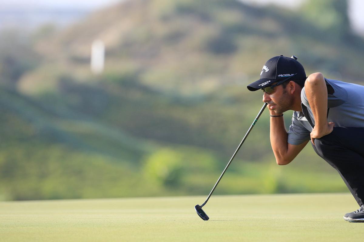 Pablo Larrazábal en el NBO Oman Open 2018. © Golffile | Phil Inglis