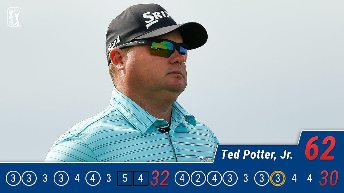 Ted Potter Jr., líder tras la tercera jornada del AT&T Pebble Beach. © Twitter PGA Tour