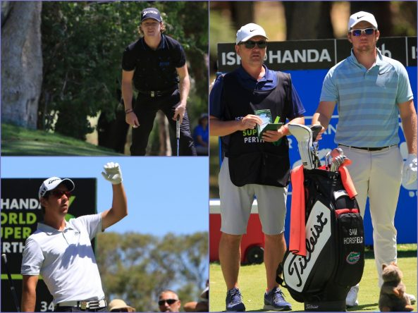 Sean Crocker, Lucas Herbert y Sam Horsfield. © Thos Caffrey | Golffile