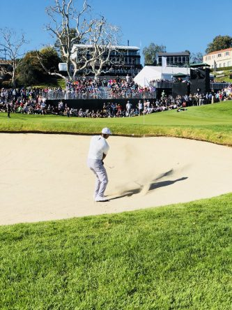 Tiger Woods, hoy en el Genesis Open. © Ben Everill