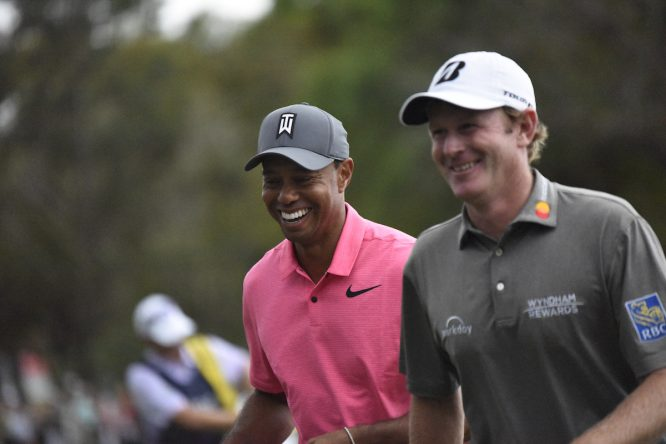 Tiger Woods, ayer durante la tercera ronda. © Golffile   Dalton Hamm