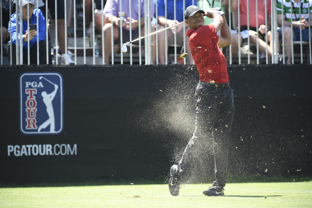 Tiger Woods durante la ronda final en Bay Hill. © Golffile | Dalton Hamm
