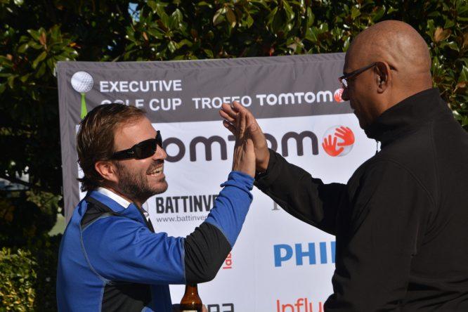 Haciendo Netgolfing en un torneo de la Executive.Golf Cup.