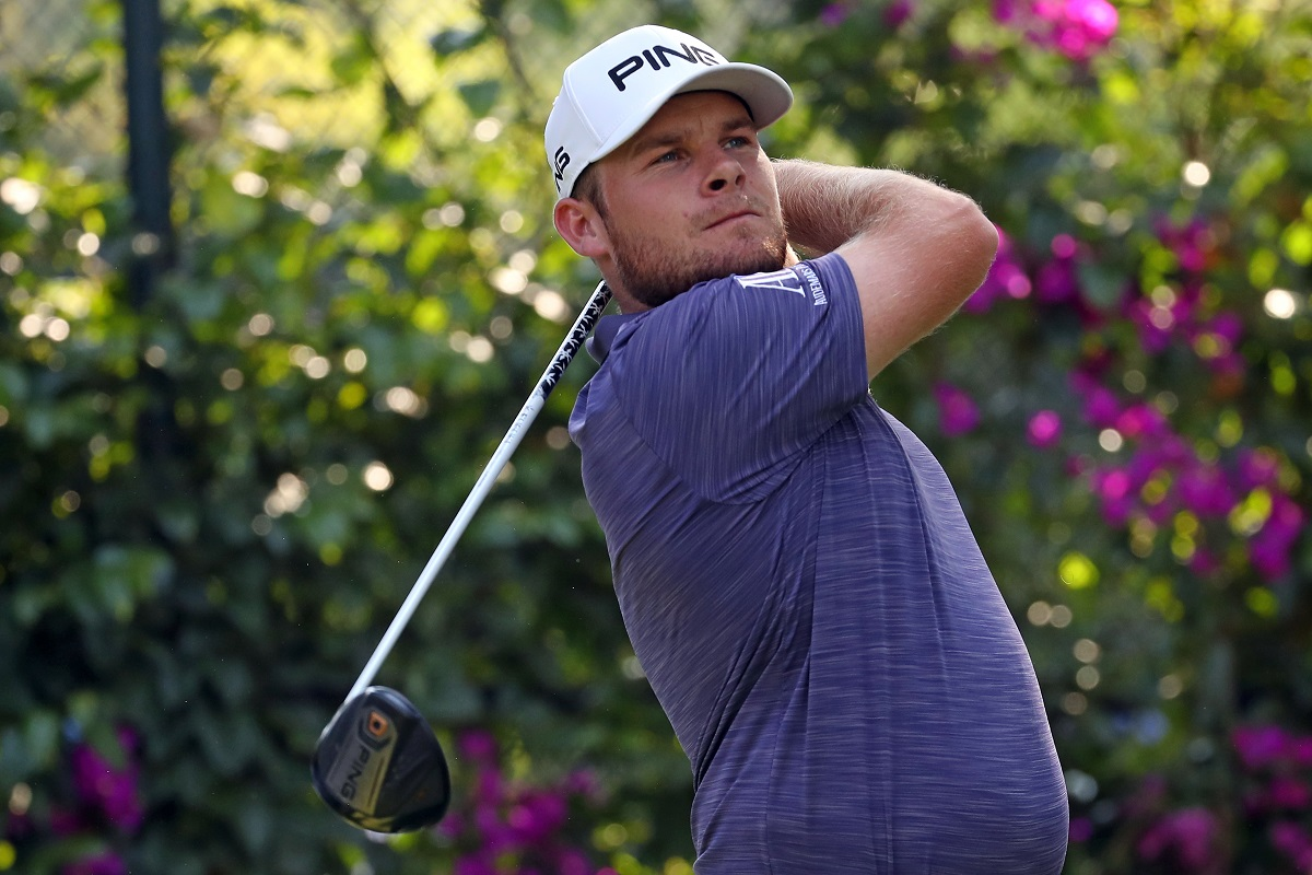 Tyrrell Hatton of England plays his shot from the 14th tee during the final round of World Golf Championships-Mexico Championship at Club De Golf Chapultepec on March 4, 2018 in Mexico City, Mexico. (Photo by Gregory Shamus/Getty Images)