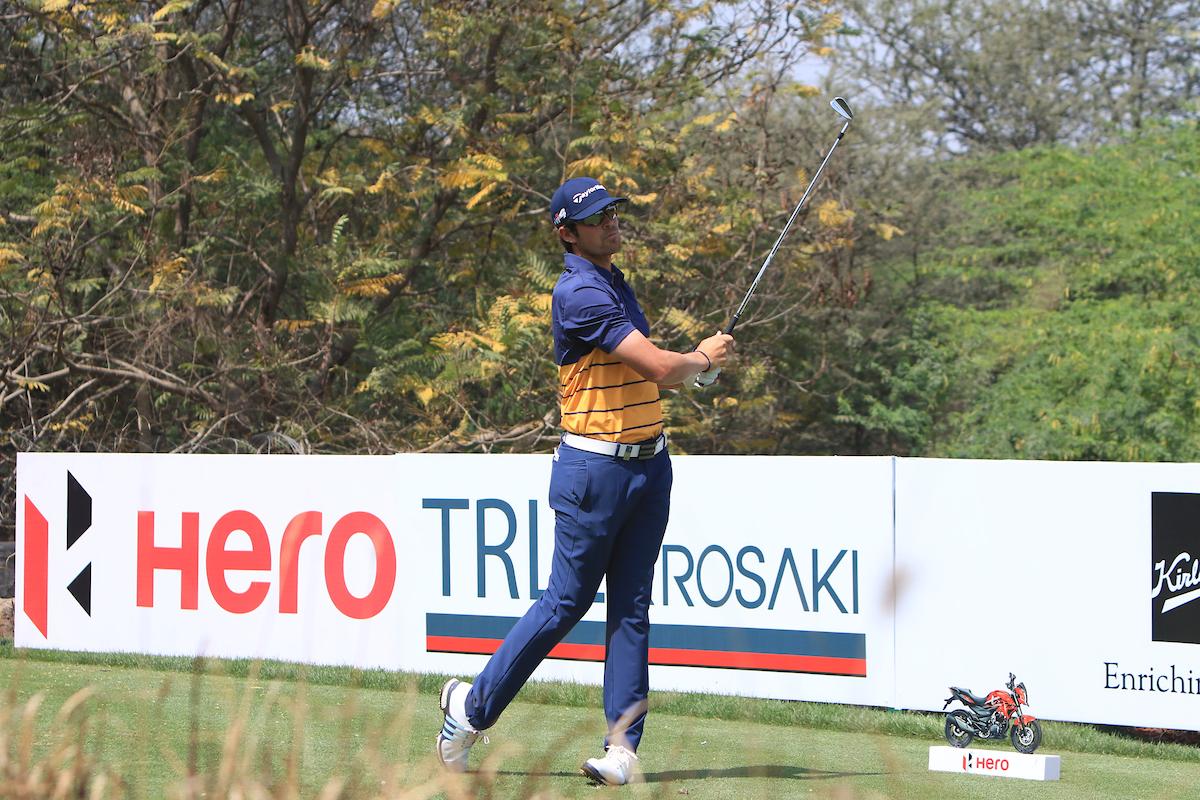 Nacho Elvira hoy sábado en el DLF Golf. © Golffile | Thos Caffrey