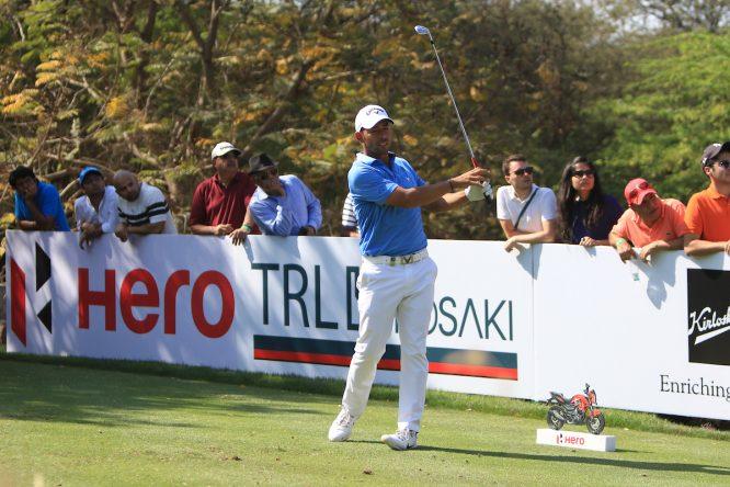 Pablo Larrazábal durante la tercera jornada en el Hero Indian Open. © Golffile | Thos Caffrey