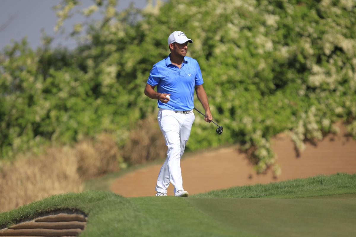 Pablo Larrazábal hoy sábado en el DLF Golf. © Golffile | Thos Caffrey