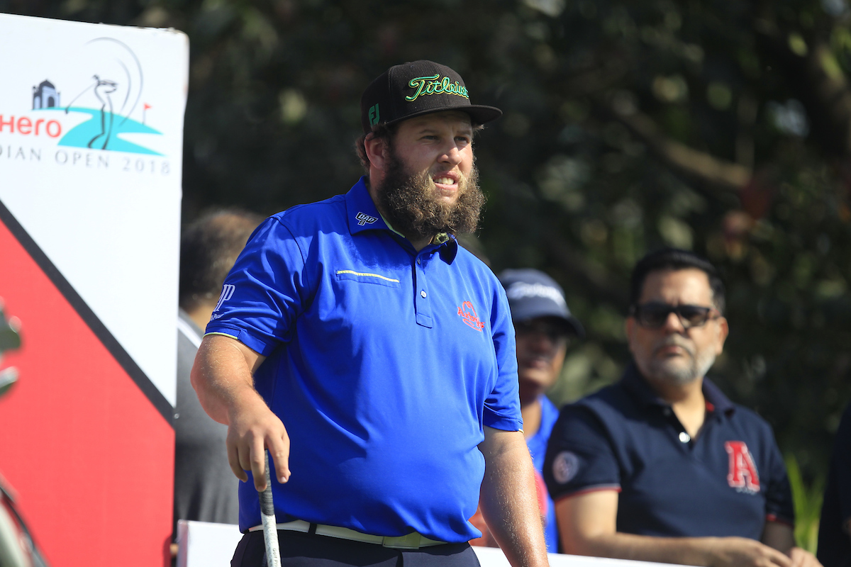 Andrew Johnston en la jornada final del Hero Indian Open. © Golffile | Thos Caffrey