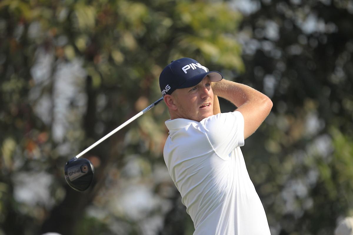 Matt Wallace durante la ronda final en el DLF Golf. © Golffile | Thos Caffrey