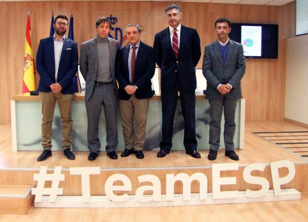 José Vicente Pérez Cuartero, David Pastor, Carlos Celles, Jaime Salaverri y Enrique Martín