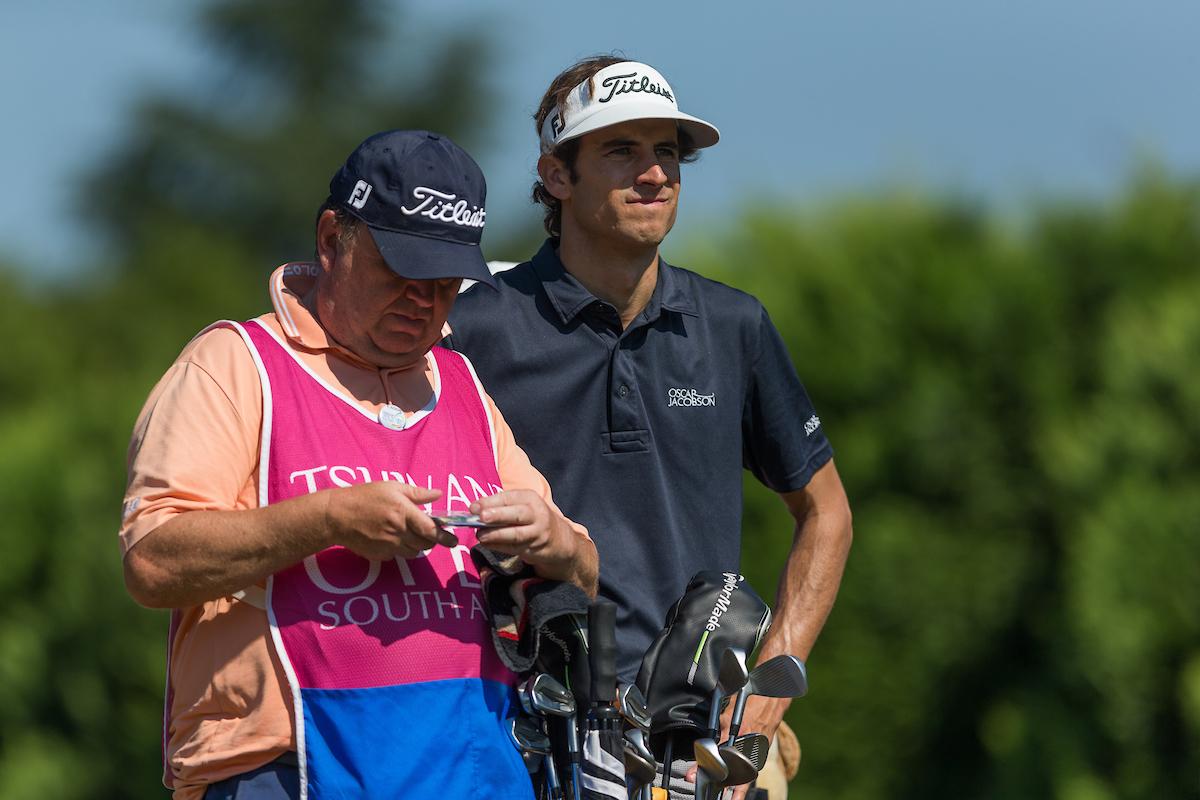 Pedro Oriol hoy domingo en el Pretoria CC. © Golffile | Tyrone Winfield