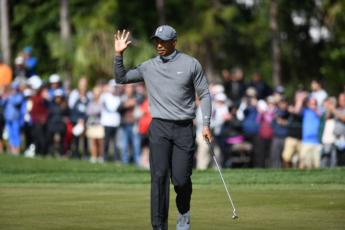 Tiger Woods en el Copperhead course. © Golffile | Dalton Hamm
