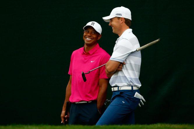 Tiger Woods y Jordan Spieth © PGA Tour