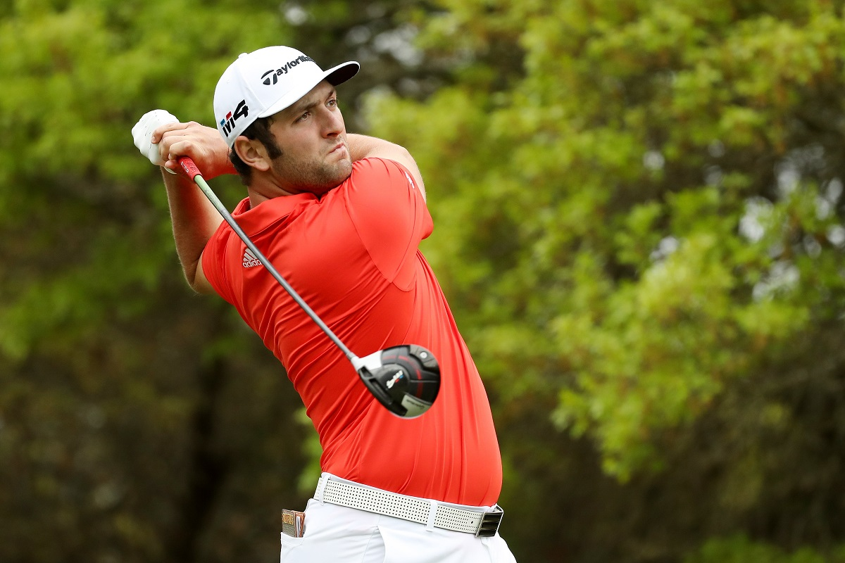 Jon Rahm of Spain plays his shot from the fifth tee during the third round of the World Golf Championships-Dell Match Play at Austin Country Club on March 23, 2018 in Austin, Texas.  (Photo by Gregory Shamus/Getty Images)