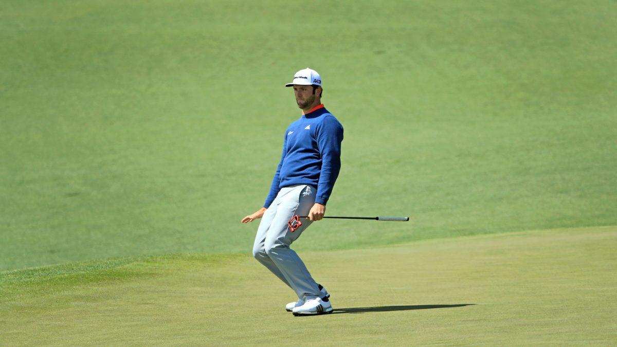 Jon Rahm este domingo en la jornada final del Masters de Augusta.