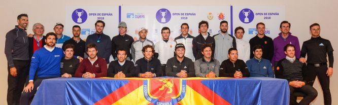 Jugadores españoles en el Open de España 2018. © José Salto