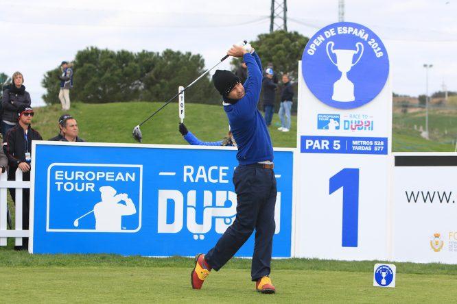 Jorge Campillo, la semana pasada en el Open de España en Madrid. © Thos Caffrey | Golffile