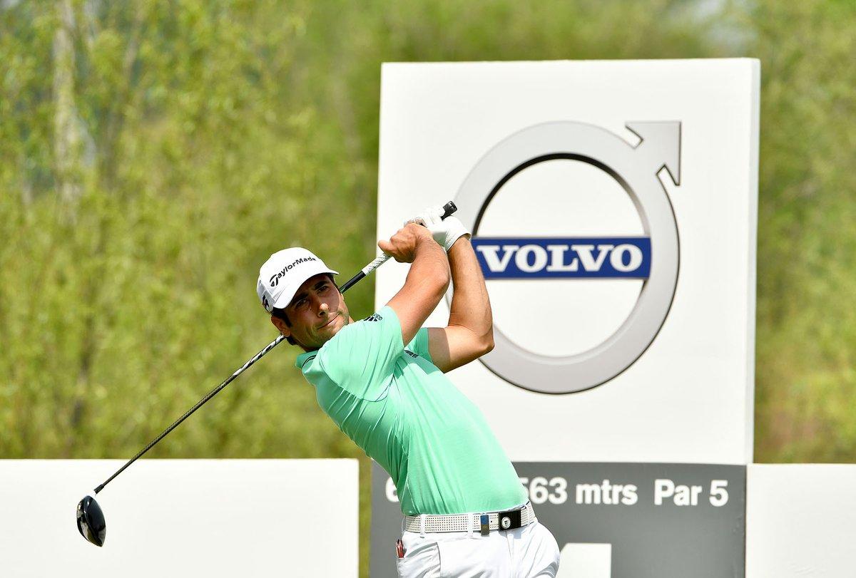 Adrián Otaegui esta semana en el Volvo China Open. © Twitter Asian Tour