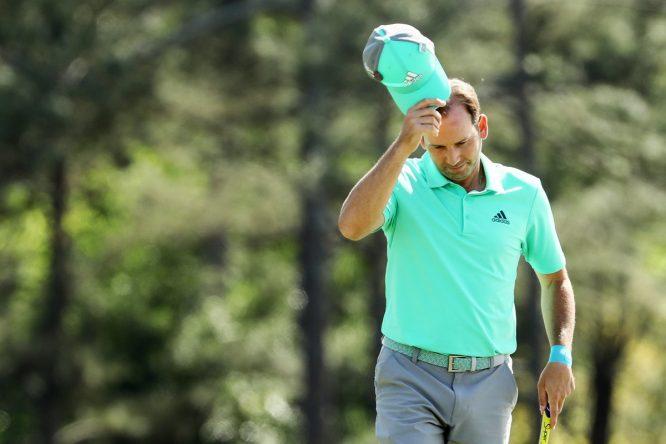 Sergio García en la primera ronda del Masters.