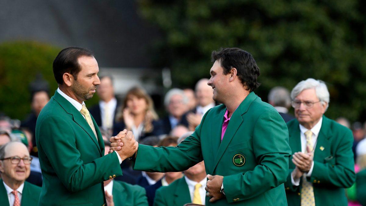 Sergio García y Patrick Reed el domingo en Augusta.