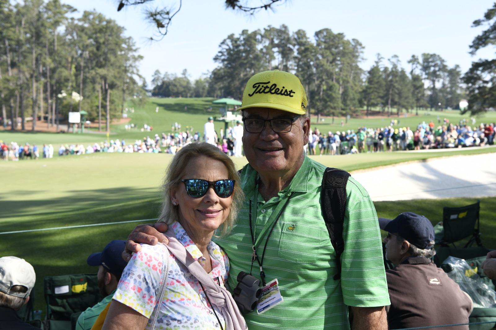 Rafael Cabrera, junto a su esposa Emma. © Rafael Cabrera