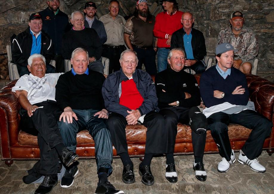 Jack Nicklaus, Gary Player y varias leyendas del golf reunidas en este torneo.
